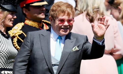 Associated Press Elton John Serenades Royal Newlyweds Prince Harry and  Meghan Markle at Wedding Reception